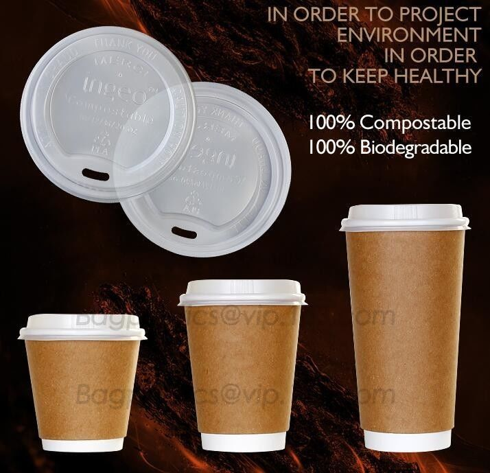 Biodegradable Eco friendly Disposable Cornstarch CPLA Cup,hot sale plastic coffee cup lid manufacturers fit for paper co