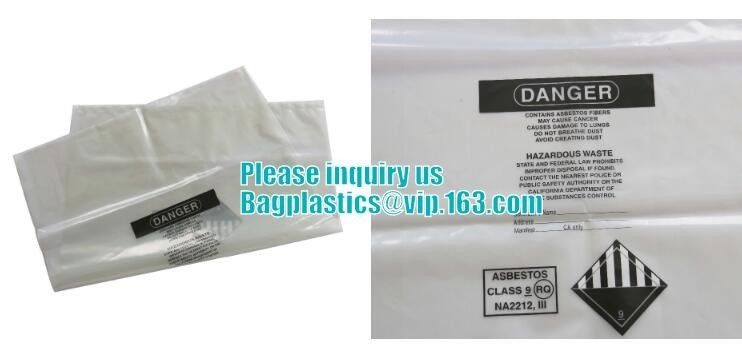 Clean Up Autoclavable Biohazard Bags Disposable FILM Asbestos Clear Poly Sheeting