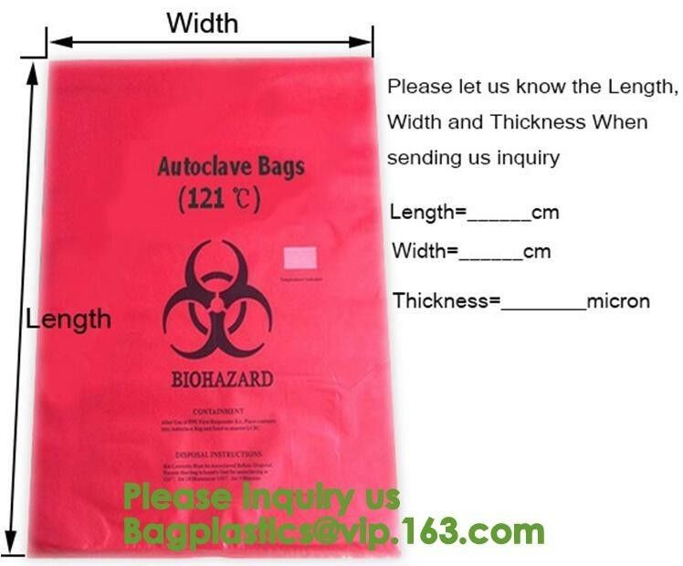 Aerohazard Biological Hazard Bag 240x160mm,Red Medical Waste Disposal Bags | US Bio-Clean,Biohazard Bags - Biohazard Dis