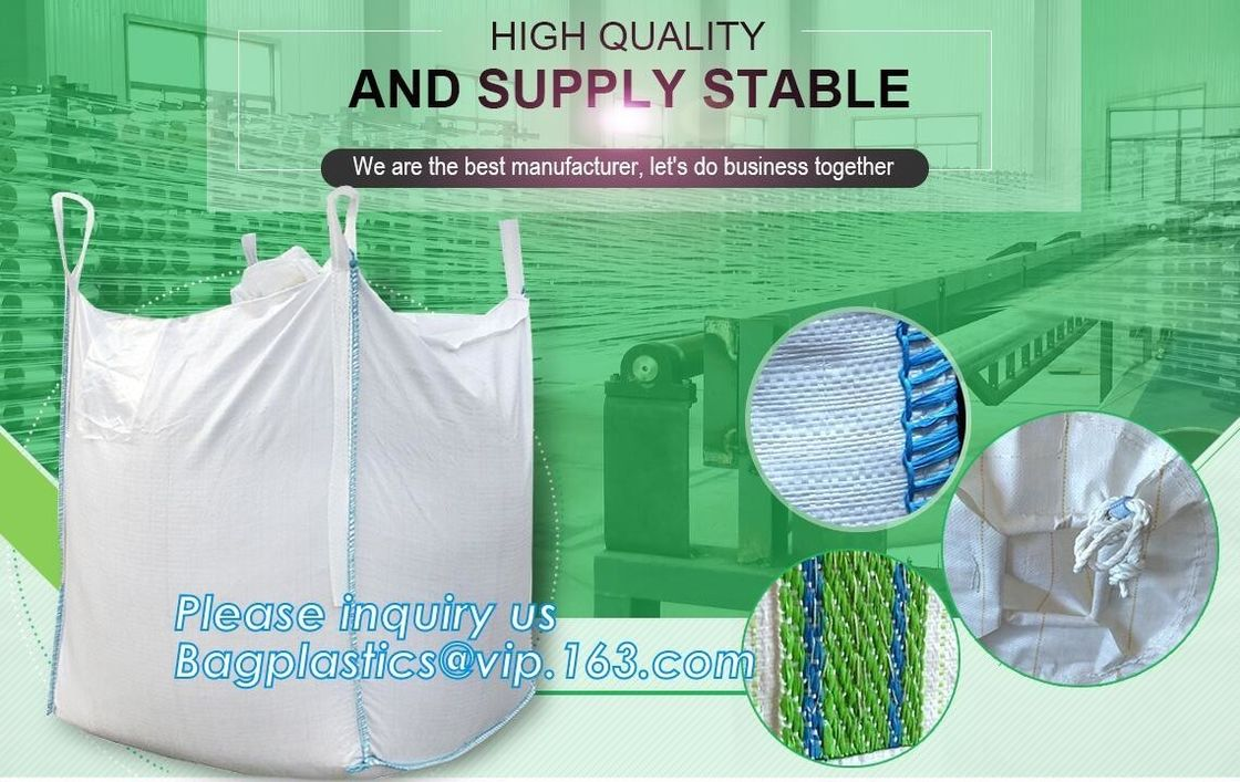 1 Ton - 2 Ton FIBC Jumbo Bags 100% Virgin Polypropylene PP Woven Packing Sand